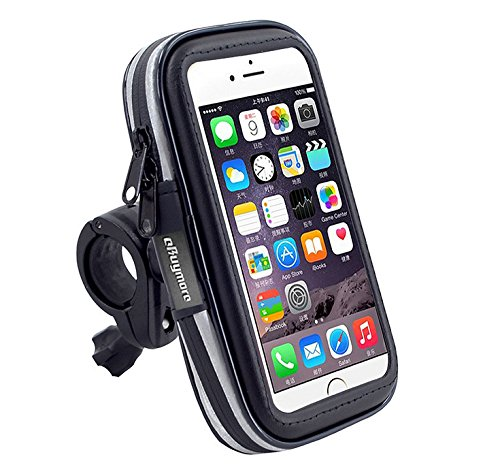 eBuymore TM Touch Screen Bike Mount Waterproof Phone GPS Case Bicycle Handlebar Holder Bag for Samsung Galaxy S9 Active/iPhone XS Max/iPhone XR/Sony Xepria XZ3 / LG G7 Fit/Huawei Mate SE/Mate 20 Lite ()