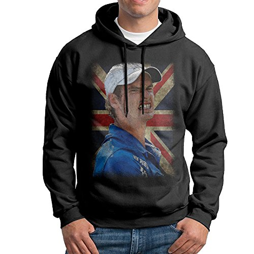 Creepypasta Costumes For Girls (Andy Murray British Flag Men Pullover Black Hoody)