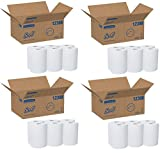 Scott Slimroll Hard Roll Paper Towels (12388) with Fast-Drying Absorbency Pockets, White, 5 Case of 6 Rolls / Case, 580' / Roll