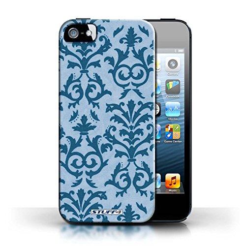 Etui pour Apple iPhone 5/5S / Bleu conception / Collection de Motif de défilement