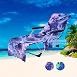 Beach Chair Cover with Side Pockets,Microfiber