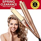 Twist Straightening Iron Healthy Care 2 in 1 Hair Curling Iron Automatic Release