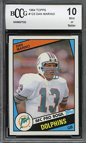 1984-topps-123-dan-marino-miami-dolphins-rookie-card-bgs-bccg-10-graded-card