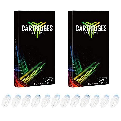 Dragonhawk 20Pcs Extreme Cartridges Disposable Tattoo Needle 7 Round Shader (7RS)