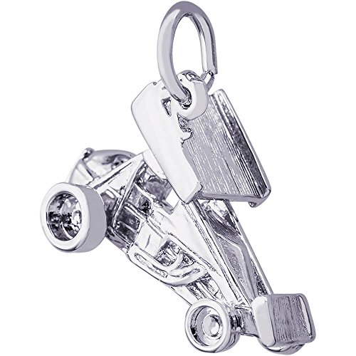 Rembrandt Charms Sprint Car with Wings Charm (Approximate Measurements 12 x 19.5 mm) ()