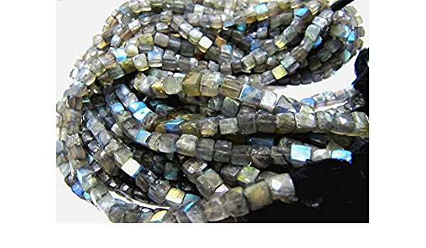 8 Inch-Super-Finest-Superb-aaa-Quality,BLUE FLASHY LABRADORITE 7 Matched Pairs,15mm Long Elongated Pyramid Shape Briolettes.