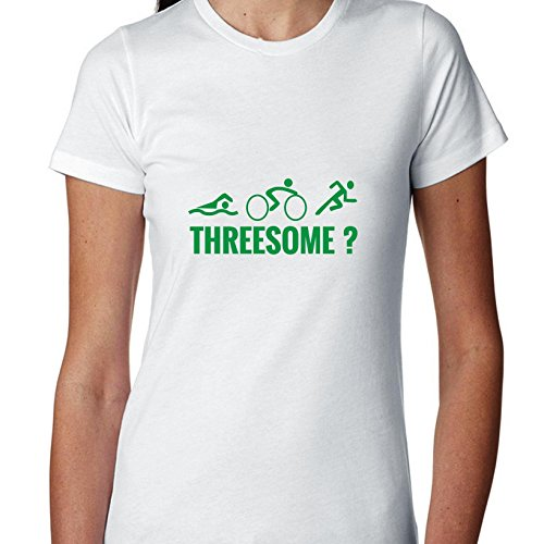 Hollywood Thread Triathlon Ironman Race Funny Threesome? Women's Cotton - Apparel Ironman Triathlon