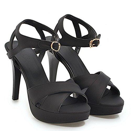 femmes à plateforme sandales Vulusvalas talons Altos pour noir mode et qEtEgx8n