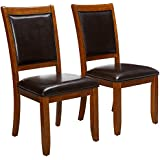 Coaster Home Furnishings Nelms Classic Modern Transitional Upholstered Seat And Back Dining Side Chair Set Of 2