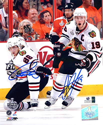 Patrick Kane and Jonathan Toews Chicago Blackhawks Dual Signed Autographed 8