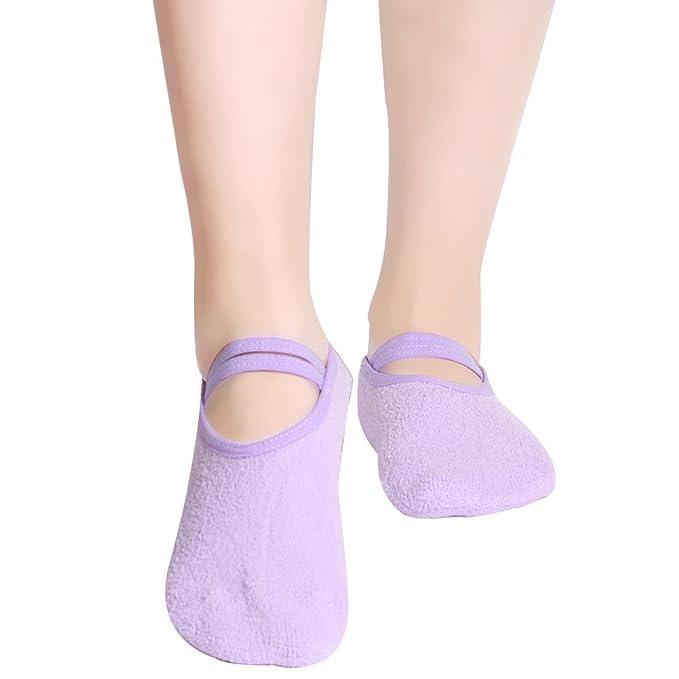 Amazon.com: Mujer Calcetines de yoga, casa Slipper Ballet ...