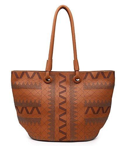 shomico Women's MT1248 Shoulder Bags Casual Faux Leather ...