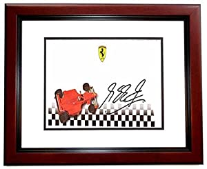 Michael Schumacher Signed - Autographed Formula One Driver 3x7 inch Envelope - MAHOGANY CUSTOM FRAME - Guaranteed to pass or JSA - PSA/DNA Certified from Real Deal Memorabilia