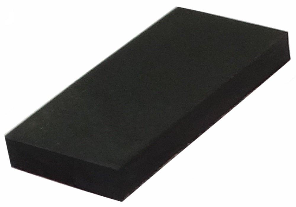 AERZETIX: 10 x Patas pies adhesiva rectangulares de caucho A: 2.5mm 19.7x9.7mm para muebles, negro. SK2-C12635-C204