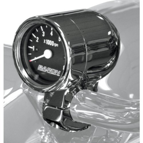Baron Custom Accessories Bullet Tachometer 1 Black Face BA-7570-01 by Baron Custom Accessories