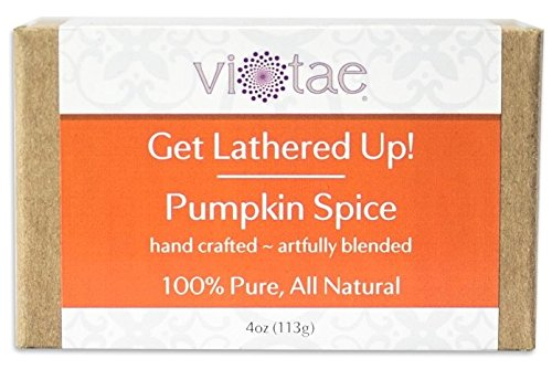 Homemade Face Makeup Halloween (Vi-Tae 100% Natural and Organic Handmade 'Get Lathered Up' 4oz Soap Bars (Pumpkin Spice, 1 pack))
