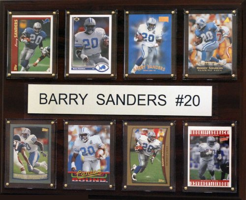 Barry Sanders Wall - NFL Detroit Lions Barry Sanders 8 Card Plaque