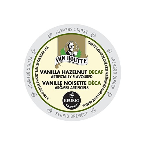 24 Count - Van Houtte Vanilla Hazelnut Decaf Coffee Cup for Keurig K-Cup Brewers