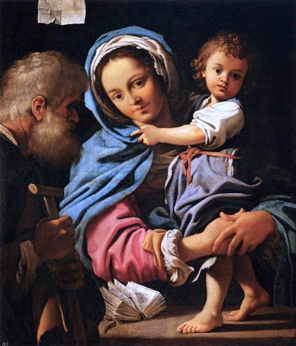 Bartolomeo Schedoni The Holy Family - 24'' x 30'' 100% Hand Painted Oil Painting Reproduction by Art Oyster