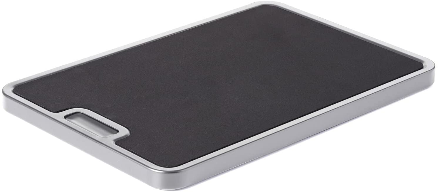 Nifty Medium Appliance Rolling Tray - Silver, Home Kitchen Counter Organizer, Integrated Rolling System, Non-Slip Pad Top for Coffee Maker, Stand Mixer, Blender, Toaster