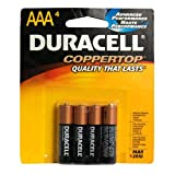 Duracell Coppertop AAA Batteries, 4 Count (MN2400B4Z)