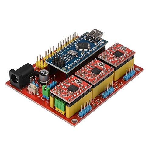 XCSOURCE CNC Shield V4 Engraver 3D Printer Expansion Board Nano 3.0 Stepper Motor A4988 Driver Kit for Arduino TE732