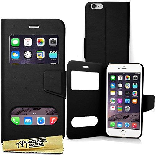 Accessory Master 5055907842883 Phantasie Design schlanke Bildansicht PU Leder Buch Flip Hülle für Apple iPhone 6 Plus schwarz