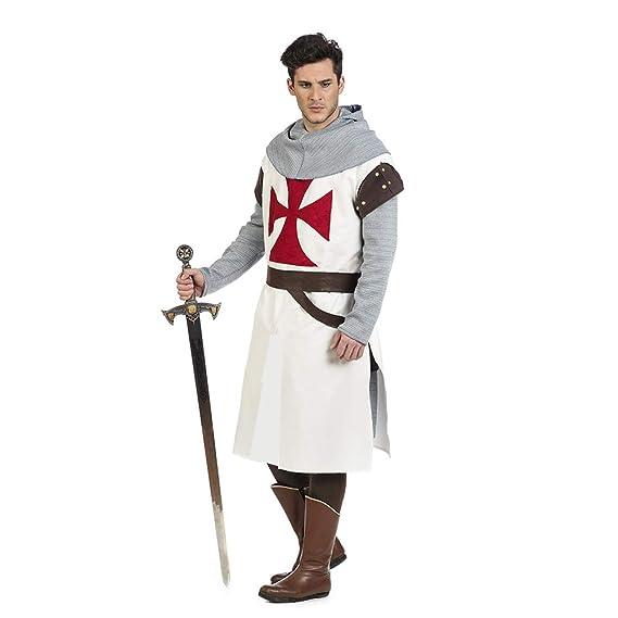 Limit Sport Disfraz de Caballero Medieval Templario Blanco ...