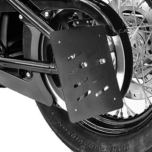 Portatarga laterale per Harley Softail Fat Bob 18-19 nero