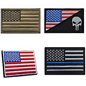 Aiyuda Military Tactical Embroidered US Flag Velcro-Backed Patch Removable