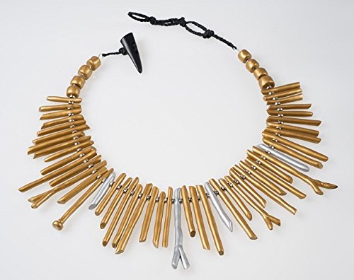 Golden Pick-up Sticks Necklace