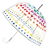 totes Signature Bubble Umbrella - Manual Open, One Size - Clear Dots