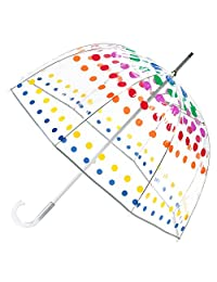 Totes Manual Open Bubble Umbrella, Clear Dots, One Size