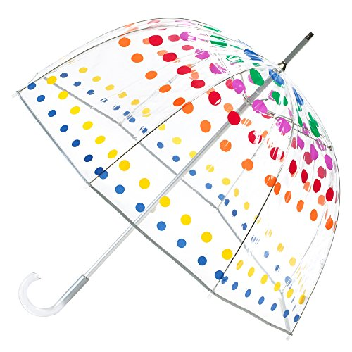 (totes Signature Clear Bubble Umbrella, Dots)