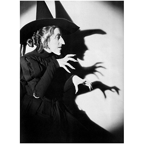 The Wizard of Oz Wicked Witch of The West aka Margaret Hamilton Shadowing Witchy Moves 8 x 10 Photo ()