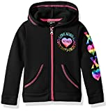 XOXO Toddler Girls' Fleece Logo Hoodie, Black Heart, 3T
