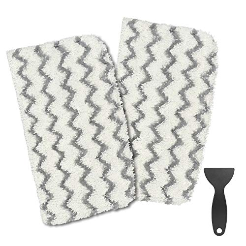 Wigbow Shark Steam Mop Pads 2 Pack S1000 S1000A S1000C S1000WM S1001C Dirt Grip Pads Set Washable Reusable Mop Pads Replacement Parts (1000A002)