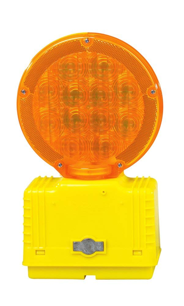 Cortina 03-10-3WAYDC Polycarbonate LED Barricade Light with Photocell, 6 VDC, Amber (Pack of 2) by Cortina (Image #2)