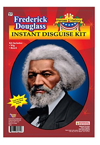 Child Heroes In History Instant Disguise Kit   Frederick Douglass   Wig And Beard