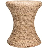 Household Essentials Hourglass Water Hyacinth Wicker Table