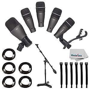 Amazon Com Samson Dk705 5 Piece Drum Microphone Kit