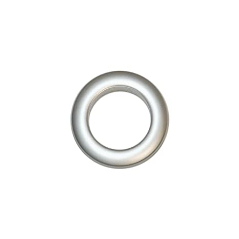 conception de la variété moitié prix beauté Oeillets à Clipser pour Rideaux Coloris Argent Mat - diamètre 35 mm - Lot  de 8