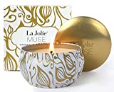 #7: Scented Candles Vanilla Coconut Candle Soy Wax, 8.1 oz Aromatherapy Travel Tin