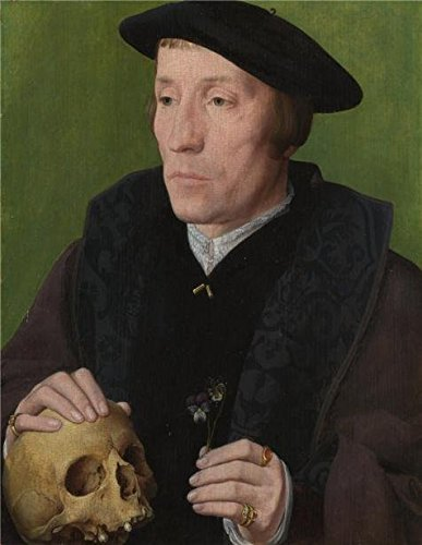 [Perfect Effect Canvas ,the High Definition Art Decorative Prints On Canvas Of Oil Painting 'Follower Of Jan Van Scorel - A Man With A Pansy And A Skull,about 1535', 18x23 Inch / 46x59 Cm Is Best For Hallway Gallery Art And Home Gallery Art And] (Cobra Kai Costume Large)