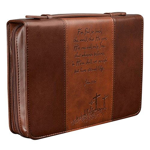 Gospel Two-tone Bible / Book Cover - John 3:16 (Large)