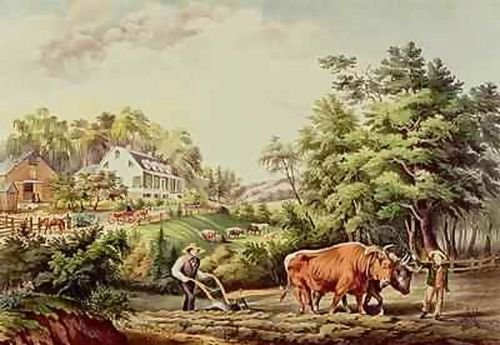 - 1st Art Gallery American Farm Scenes, Engraved By Nathaniel Currier 1813-98 P...