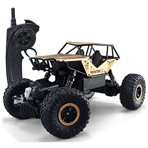 SZJJX RC Cars Off-Road Rock Vehicle Crawler Truck 2.4Ghz 4WD High Speed 1:14 Radio Remote Control Racing Cars Electric Fast Race Buggy Hobby Car Golden -