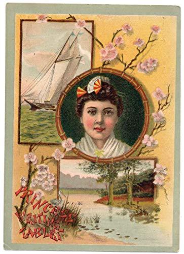 Newark New Jersey Ice Cream Soda Advertising Geisha Vintage Trade Card JA454295