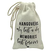 Darling Souvenir Hangover Recovery Kit Wedding Party Favor Bags Hangover Only Last a Day, Memories Last Forever First Aid Kit Bag 4 x 6 Inch, 10 Pcs