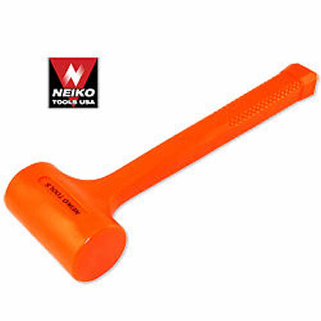 3 Lb Pound Dead Blow Orange Deadblow Soft Face Shot Shock Absorbing Hammer Tool